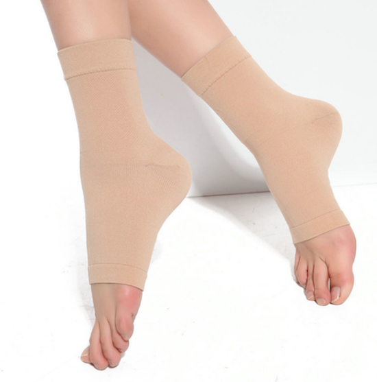 15 - 20 mmHg Open toe ankle circulation stockings