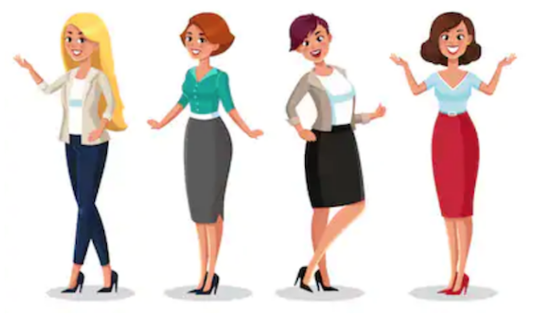 Graphic of women