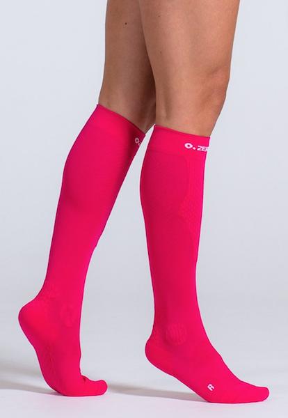 Bright pink knee high 15 - 20 mmHg circulation legwear