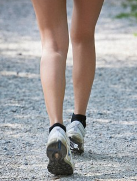 Athlete wearing a pair of ankle support socks