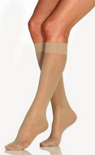Close toe compression knee high stockings