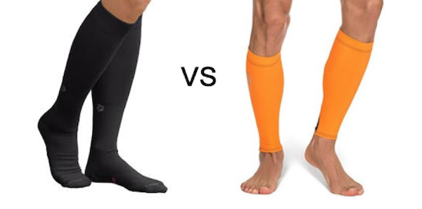 Black compression socks vs orange compression leg sleeves/compression sleeves for calf for calf muscle support