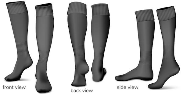Graphic of knee high circulation legwear