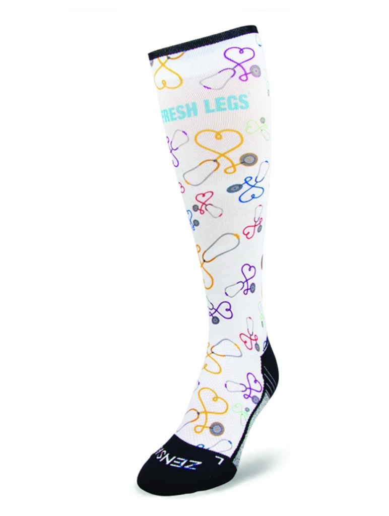Nursing Compression Socks in White