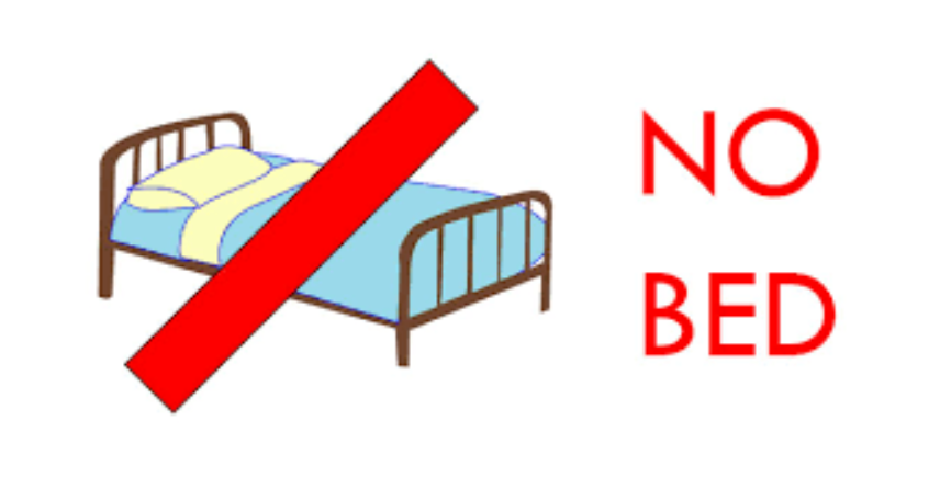 No bed Sign