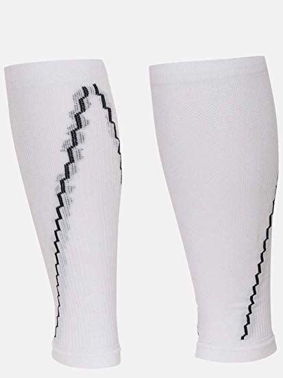 Shining White Compression Leg Sleeves