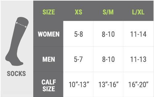 size chart for men and women
