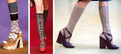 Different styles and varieties of socks