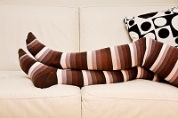 Trendy, fashionable compression socks
