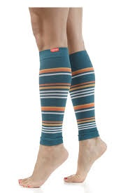 stripped knee-high compression sleeves