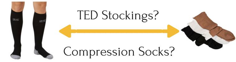 TED Hose vs Compression Socks