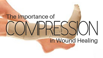 image showing compression in wound healing