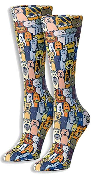 Abstract Graduated Compression Socks