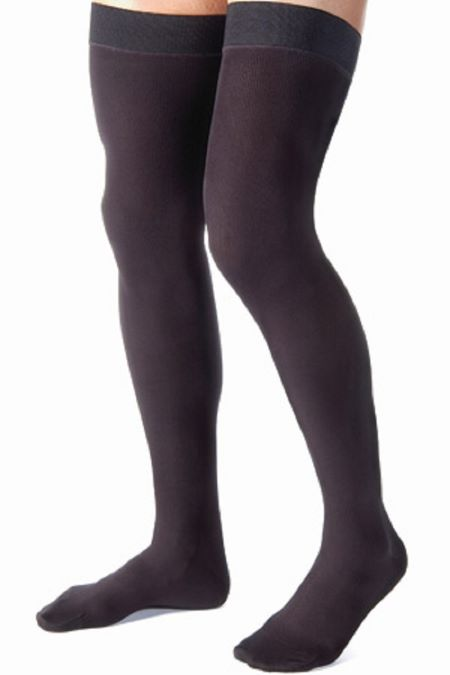 Thigh high compression socks