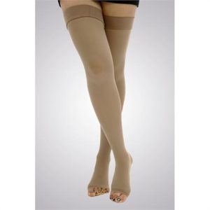 Unisex Firm Support Toeless Thigh High socks