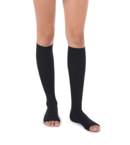 Unisex Moderate Support Toeless Knee High Socks