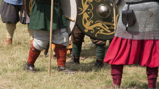 ancient and medieval vikings wearing leg wraps flight sock origin