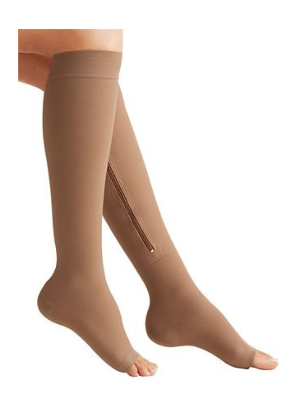 Zipper Compression Stockings can also function as support hose