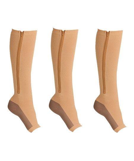 Zippered compression socks 20-30 mmHg