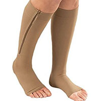 a RN wearing comfortable support hosiery