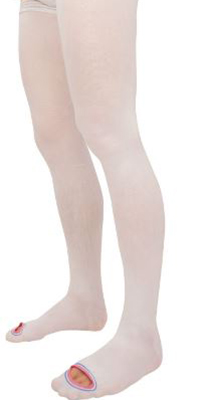 a person wearing thigh highs T.E.D. stockings