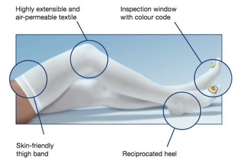 Anti-embolism stockings are also known as hospital socks.
