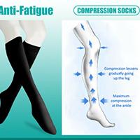 anti-fatigue knee highs support hosiery