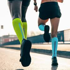 athletes in compression stockings