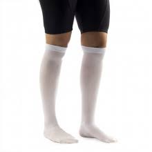 White compression stockings