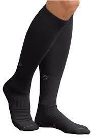 Knee high black circulation socks