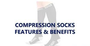 A picture showing the benefits of compression socks