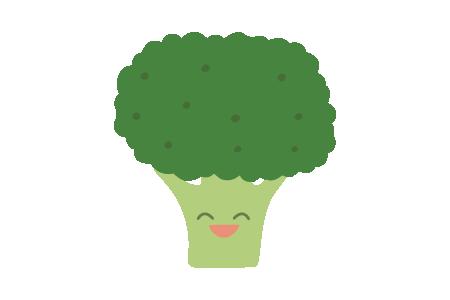 a cartoon illustration of a broccoli