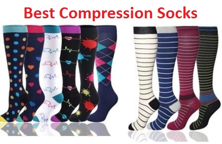 best compression stockings images showing different colors of stockings
