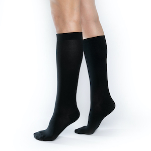 Black Compression Socks. These are ComproGear Compression Socks in 20-30 mmHg and Knee High Length.