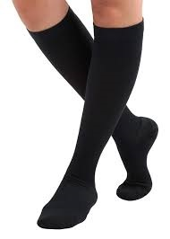 Black knee-high edema socks
