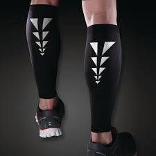 Black knee-high leg compression sleeves