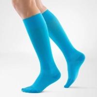 bright blue compression socks