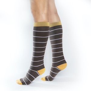 Brown Compression Socks. These are ComproGear Compression Stockings Knee High with 20-30 mmHg Compression.
