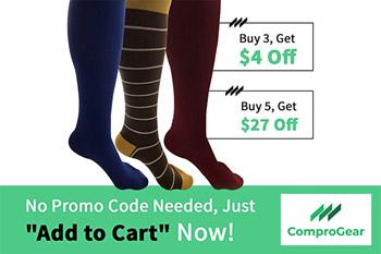 Assorted - Blue, Stripes, Maroon Compression Socks
