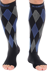buy compression socks - cute knee high open toe design
