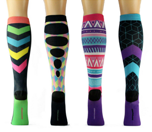 multicolored socks.