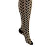 ComproGear Savory Chevrons White Compression Socks Knee High 20-30 mmHg