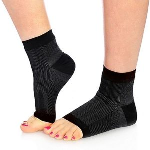 Ankle high open toe ankle support socks