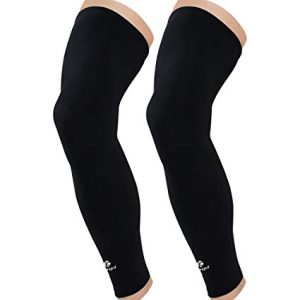 image of black compression sleeves for legs