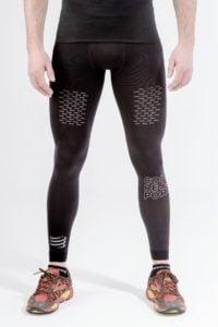 black compression sleeve for running full leg