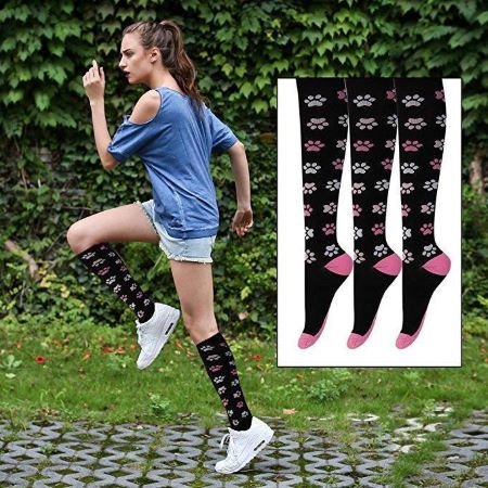 compression socks 20-30 mmHg for swollen knee