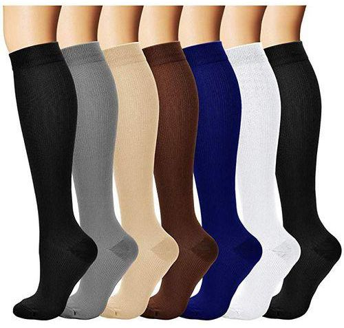 choose size pictures of grade of compression garments and socks, medical grade for deep knee high compression
