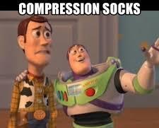 meme comment on compression socks