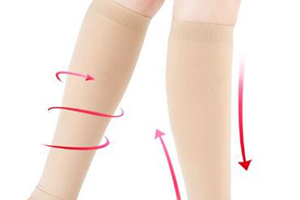15 – 20 mmHg, 20 – 30 mmHg, or 30 – 40 mmHg knee high or thigh high compression socks provide controlled pressure