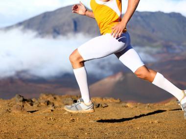 light knee compression socks for running